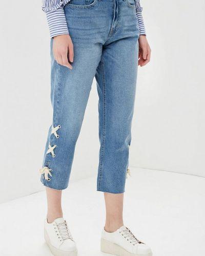 Голубые джинсы бойфренды Jennyfer