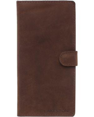 Клатч кожаный коричневый Lakestone
