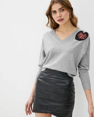 Пуловер - серый Love Republic
