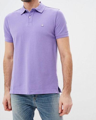 Фиолетовое поло с коротким рукавом United Colors Of Benetton