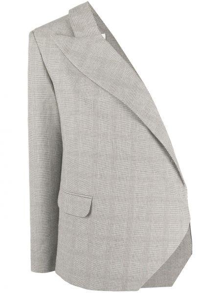 Серый пиджак на одно плечо с карманами Loulou
