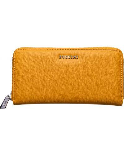 Желтый кожаный кошелек Puccini