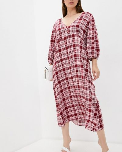 Красное повседневное платье Vivostyle