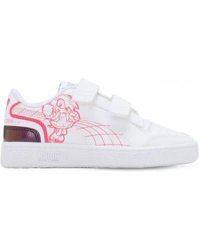 Z paskiem skórzany biały sneakersy na paskach Puma Select