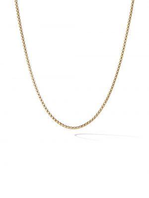 Złoty naszyjnik łańcuch - żółty David Yurman