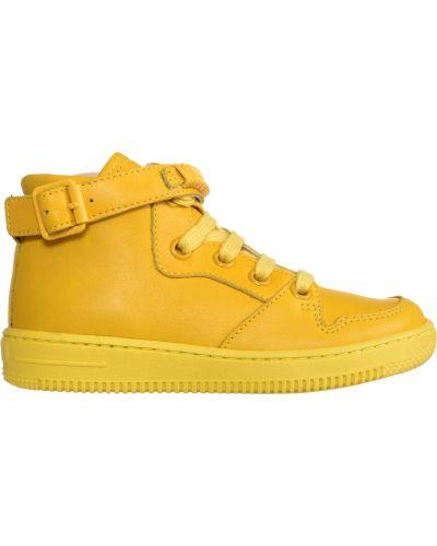 Желтые кроссовки Moschino