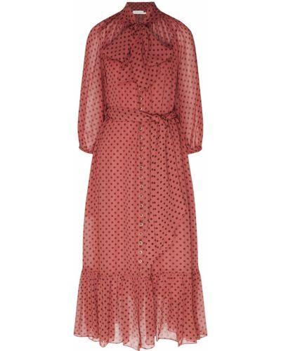 Коктейльное платье розовое на бретелях Zimmermann