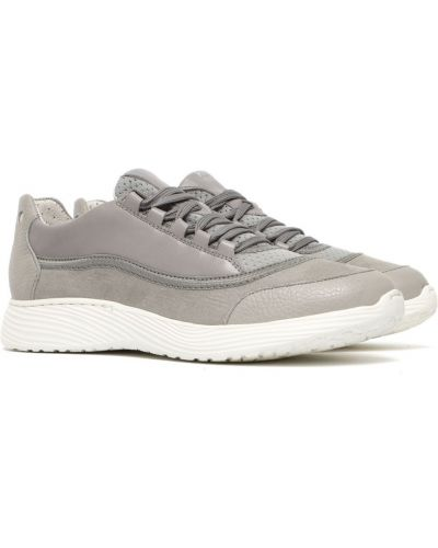 Кожаные кроссовки - серые Rylko