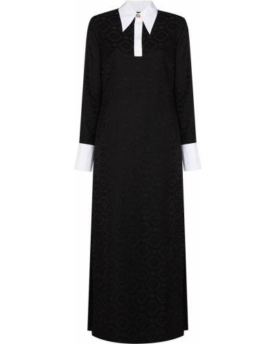 Платье макси длинное - черное Casablanca