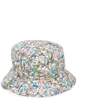 Biały kapelusz bawełniany z printem Bonpoint