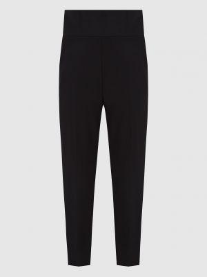 Повседневные шерстяные черные брюки David Koma