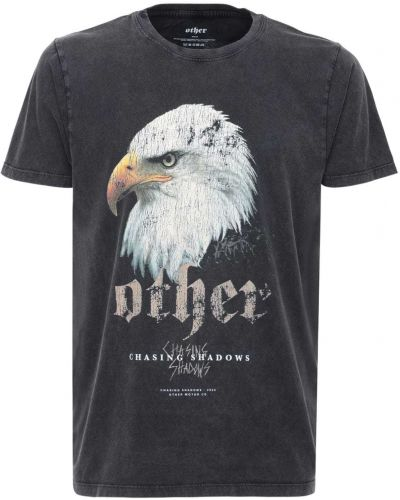 Czarny t-shirt bawełniany vintage Other