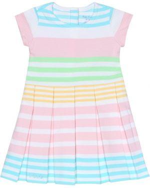 Платье в полоску с нашивками Polo Ralph Lauren Kids