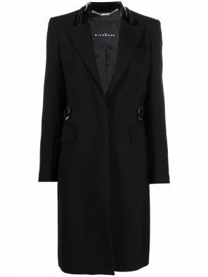 Черное пальто с лацканами John Richmond