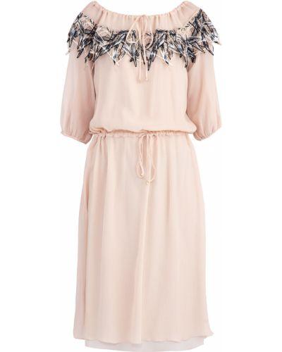 Платье с оборками свободного кроя Blumarine