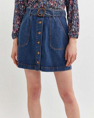 Джинсовая юбка синяя весенняя Springfield