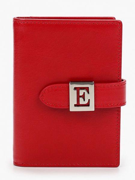 Красный кошелек из натуральной кожи Eleganzza
