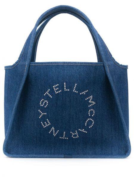 Сумка-тоут круглая джинсовая Stella Mccartney
