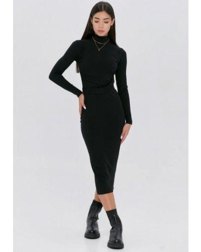Вязаное платье - черное Cardo