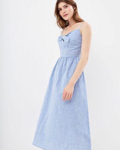 Голубое платье осеннее Warehouse