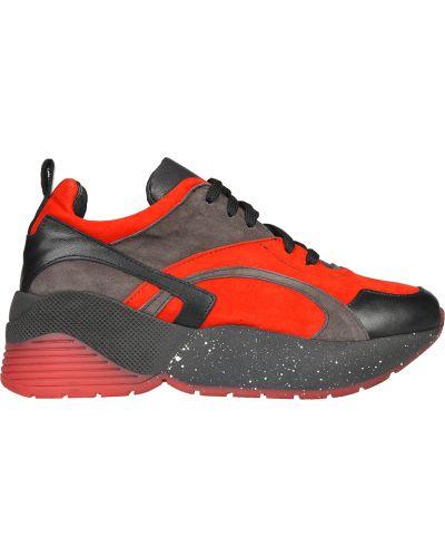 Кожаные кроссовки - красные L'estrosa