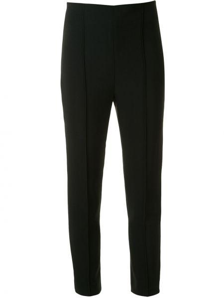 Черные брюки с поясом на молнии из вискозы Dion Lee