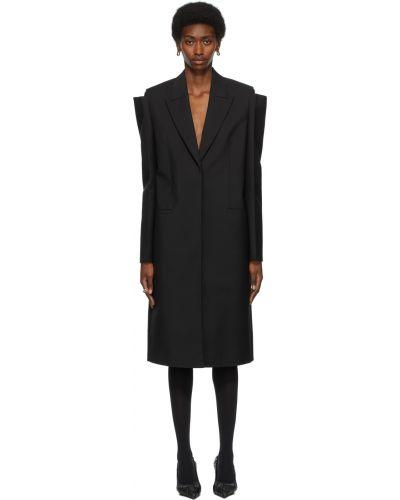 Черное пальто длинное Givenchy