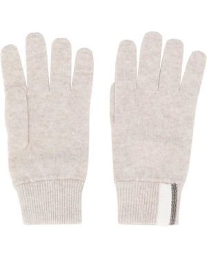 Перчатки в рубчик Brunello Cucinelli Kids