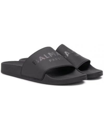 Czarne sandały na lato Balmain