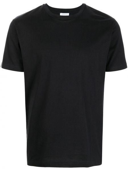 Черная футболка с короткими рукавами Sunspel
