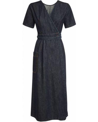 Джинсовое платье миди - синее Weekend Max Mara