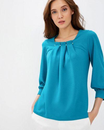 Блузка с длинным рукавом бирюзовая Grafinia