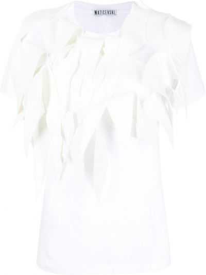 Biały t-shirt bawełniany krótki rękaw Maticevski