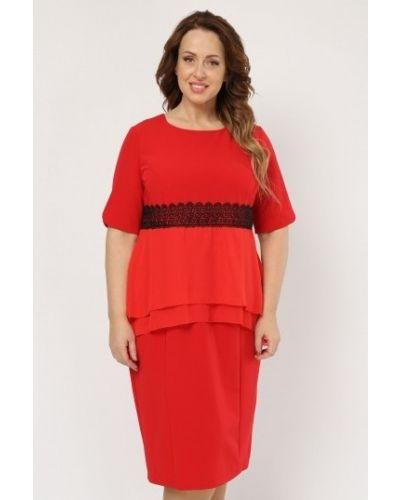 Платье с баской из вискозы Amarti