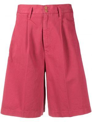 Свободные хлопковые красные шорты Forte Forte