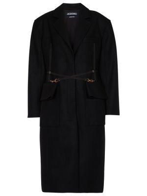 Płaszcz wełniany - czarny Jacquemus