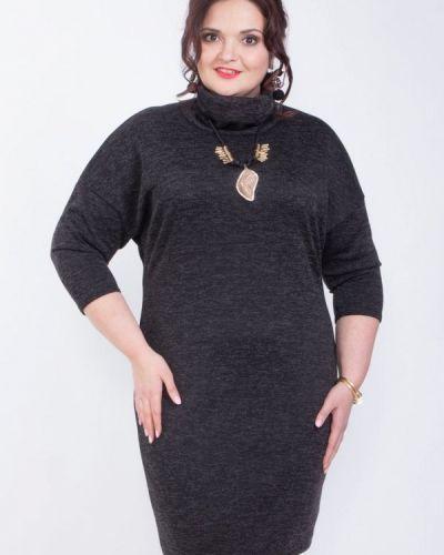 Черное деловое платье Wisell