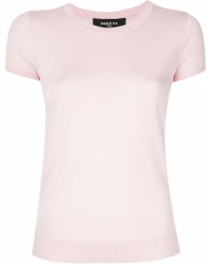 Джемпер с вырезом - розовый Paule Ka