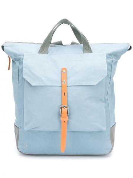 Кожаная синяя сумка с ручками с пряжкой на молнии Ally Capellino