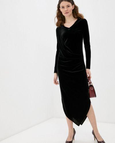Черное весеннее вечернее платье Adzhedo