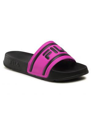 Czarne sandały skorzane Fila