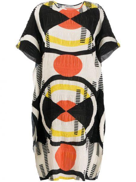 Платье мини со вставками трапеция Henrik Vibskov