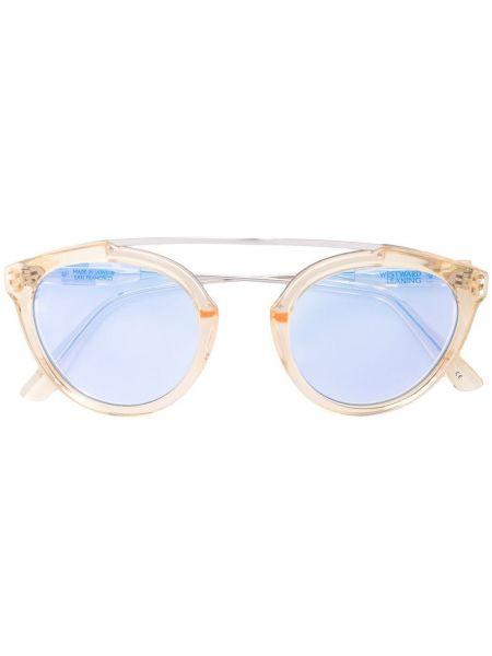 Желтые солнцезащитные очки металлические Westward Leaning