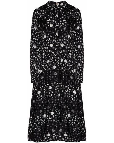 Платье с отложным воротником с длинными рукавами Silvian Heach