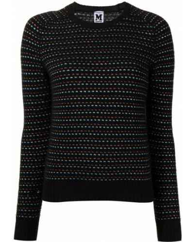 Wełniany z rękawami sweter z okrągłym dekoltem z mankietami Missoni Pre-owned