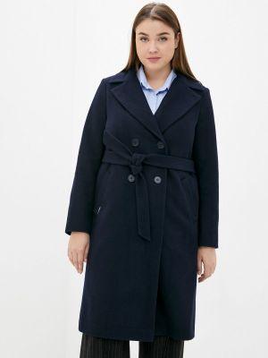 Синее демисезонное пальто Shartrez