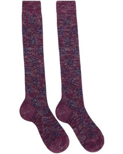 Серебряные носки высокие металлические с манжетами Gucci