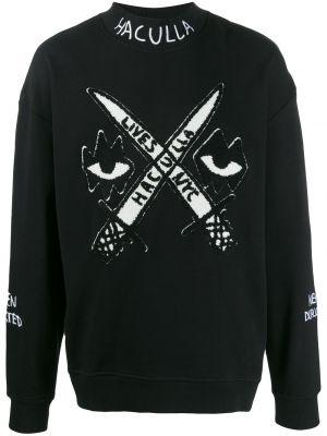 Черный свитер с воротником Haculla