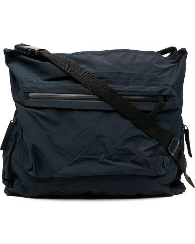 Синяя сумка на плечо на молнии с карманами Rundholz