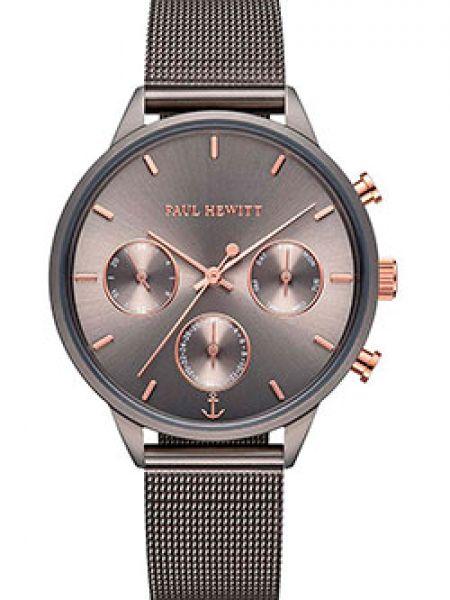 Со стрелками серые кварцевые часы круглые Paul Hewitt